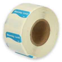 Daymark volledig oplosbare sticker Ma zonder weg op 500 stuks op rol HACCP Productfoto