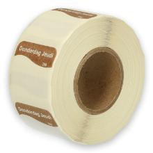 Daymark volledig oplosbare sticker Do zonder weg op 500 stuks op rol HACCP Productfoto