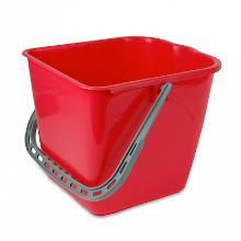 Emmer vierkant tbv werkwagen basis/brix 15 liter rood Productfoto