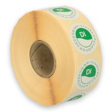 Daymark afwasbare sticker Di zonder weg op 24 uur 500 stuks op rol HACCP Productfoto