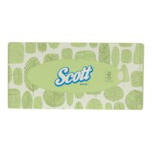 Kimberly Clark Scott facial tissue 21.5x18.5 cm 2-laags wit Productfoto