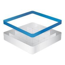 Vaatwaskorf basis 25vaks 14(H)x50x50cm A-type CaterRacks Productfoto