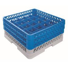 CaterRacks bekerglaskorf 25 compartimenten blauw/grijs Productfoto