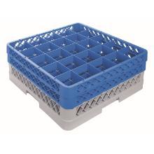 CaterRacks voetglazenkorf 25 compartimenten x 2 blauw/grijs Productfoto