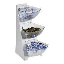 Buffetstandaard rvs+3 kunststog bakjes 1L Productfoto