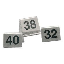 Tafelnummer rvs set nr 1 -10 Productfoto