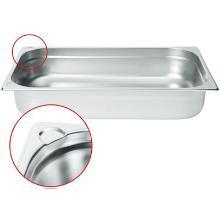 Gastronormbak 1/4 GN 26.5x16.2x15cm 4.0L RVS Productfoto