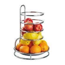 Fruitkorf 28x27.5x27.5 cm verchroomd zilver Productfoto