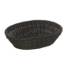 Broodmand ovaal PP 19x25x6.5 cm zwart Productfoto