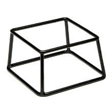 Metalen / PVC buffetstandaard Multi 18x18x10 cm zwart met antislipcoating Productfoto
