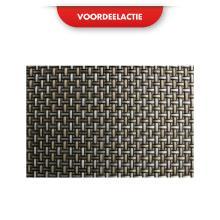 Placemat pvc 40x30 cm zwart/goud/zilver ACTIE Productfoto