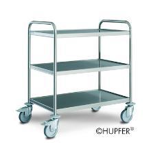 """Serveerwagen Hupfer SW 8x5/3 standaard, 3 laags + """"no more flat"""" wiel Productfoto"""