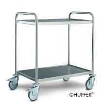 """Serveerwagen Hupfer SW 8x5/2 standaard, 2 laags + """"no more flat"""" wiel Productfoto"""