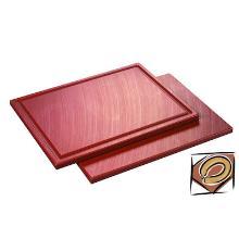 Snijplank met sapgoot 32.5x26.5x1.5cm bruin Productfoto
