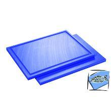 Snijplank met sapgoot 53x32.5x1.5cm blauw Productfoto