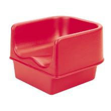 Cambro PE kinderzitje 29.5x28.6x20.6 cm rood Productfoto