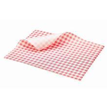 Vetvrij papier 25x20 cm rood geblokt Productfoto