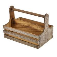 Tafelcaddy rustiek 24.5x16.5x18 cm hout Productfoto