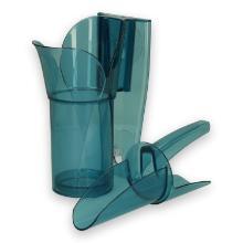 Plastic ijsblokjes schep met houder Saf-T-Scoop & Guardian 175-300 ml blauw Productfoto