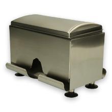RVS rietjes dispenser 15.5x22.7x19 cm zilver Productfoto