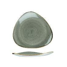 Churchill Stonecast Peppercorn Grey bord 22.9 cm driehoek Productfoto