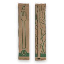 Verive waxed houten vork 16 cm bruin (individueel verpakt) Productfoto