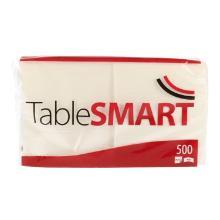 TableSMART celstof servet 24 cm 1-laags 1/4 vouw wit Productfoto