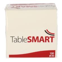 TableSMART celstof servet 24 cm 2-laags 1/4 vouw wit Productfoto