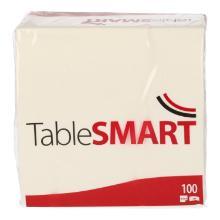 TableSMART celstof servet 33 cm 2-laags 1/4 vouw wit Productfoto