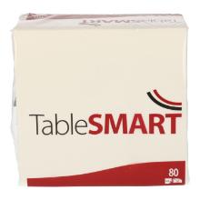 TableSMART celstof servet 33 cm 3-laags 1/4 vouw wit Productfoto