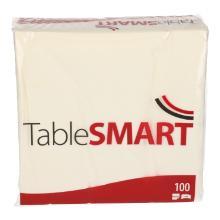 TableSMART celstof servet 40 cm 2-laags 1/4 vouw wit Productfoto