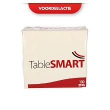 TableSMART celstof servet 40 cm 3-laags 1/4 vouw wit Productfoto