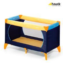 Hauck opvouwbaar babybed 129.5x69x76 cm oranje/donkerblauw Productfoto