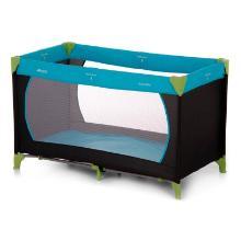 Hauck opvouwbaar babybed 129.5x69x76 cm zwart/blauw Productfoto