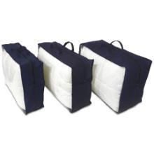 Dekbed opbergtas non woven PP/LDPE 45x65x18 cm blauw Productfoto