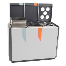 RecylcoStar 3 aluminium afvalscheidingsunit m. beker inzet grafietgrijs Productfoto