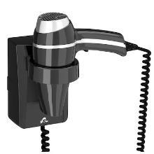 Clipper II wandhaardroger zwart Productfoto