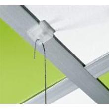 Kunststof plafondclip 19x19 mm transparant Productfoto