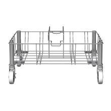 Rubbermaid Slim Jim RVS dubbel afvalbak onderstel zilver Productfoto