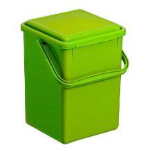 Kunststof afvalbakje GFT 8L groen Productfoto