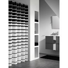 Douchegordijn contrario 180x200 cm zwart Productfoto