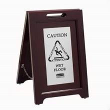 Rubbermaid houten waarschuwingsbord caution wet floor bruin Productfoto