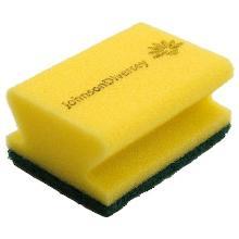 Diversey Taski 2b schuurspons geel m/pad groen Productfoto
