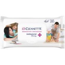 Antibacteriele vochtige doekjes Cleanette (60 doekjes per pakje) Productfoto