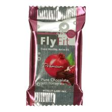 FlyFit dark chocolate with pomegrante Productfoto
