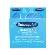 Cederroth Salvequick detectable fingertip pleisters navulling 6x30 stuks blauw Productfoto