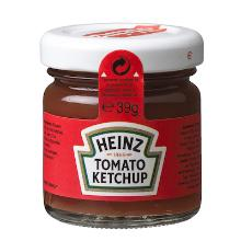 Heinz tomaten ketchup glas 33 ml Productfoto
