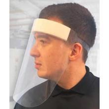 RPET beschermend gezichtsmasker 61x47 cm transparant Productfoto