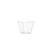 Plastic amuse bakje PS vierkant 5x5x4.5cm 60cc transparant kova Productfoto