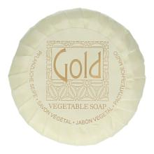 Gold soap pleat wrapped 15 gr vegan friendly Productfoto